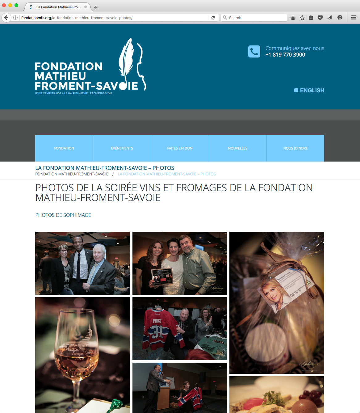 Site Internet Fondation-Mathieu-Froment-Savoie par Desrosiers Design Communications Marketing